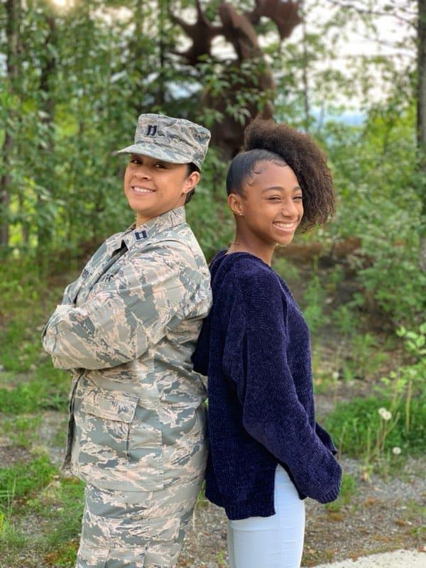 Erika Woodson and track star daughter Jada McGee