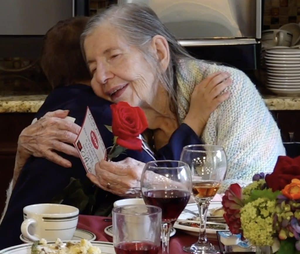 Hugs for senior citizens