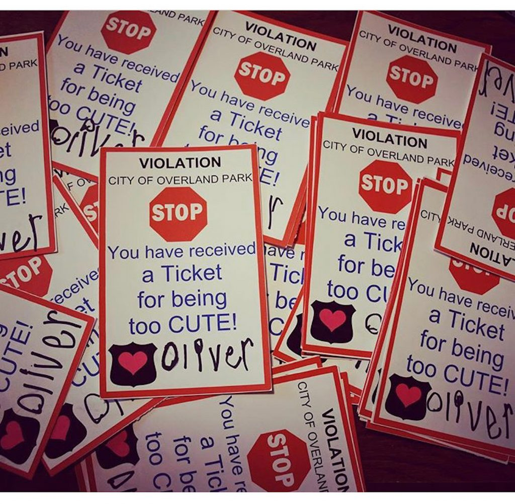 """A close up of the """"tickets"""" Oliver Davis gives out to senior citizens"""