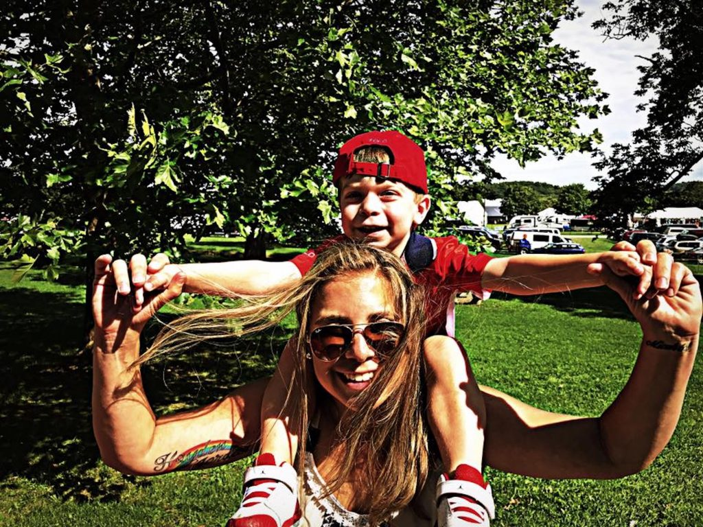 Lauren Ninja Mom Lauren Chamides with son Hayden
