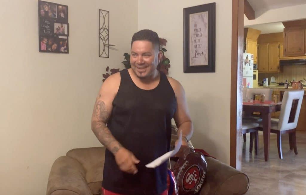 Alfredo getting surprised by step kids