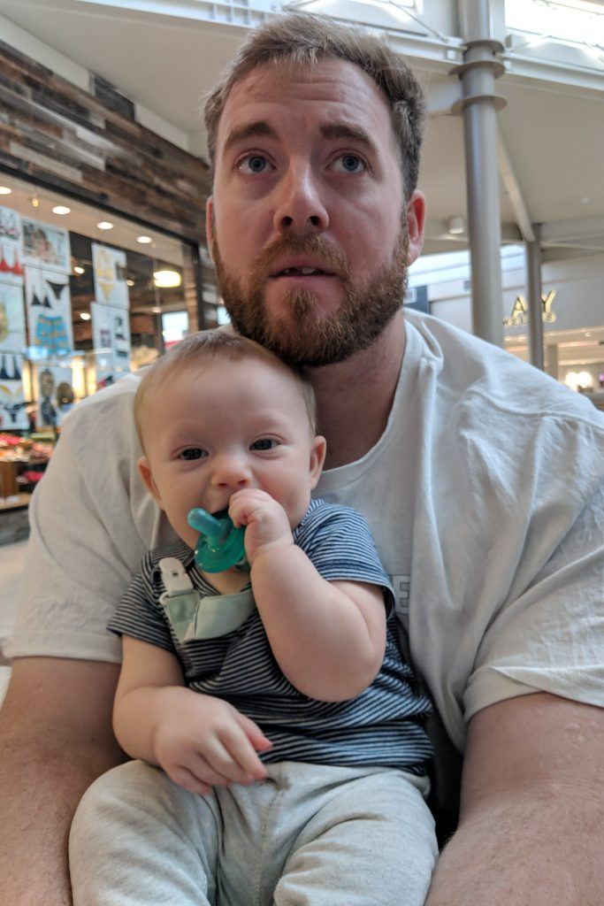 Baby freaks out at dad without beard