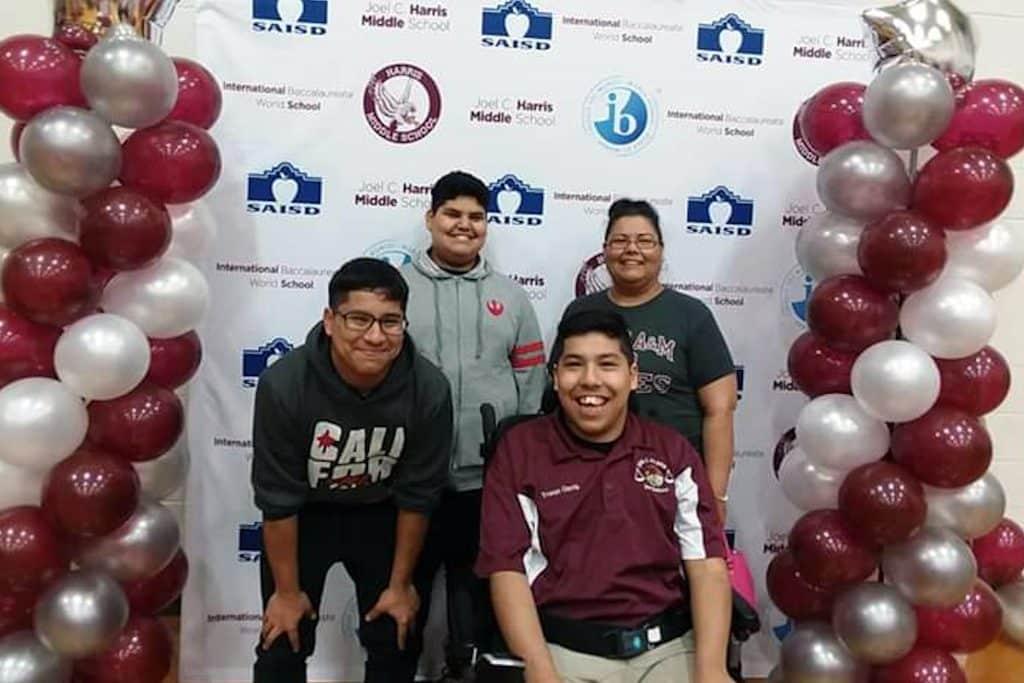 Tristan Garcia with friends