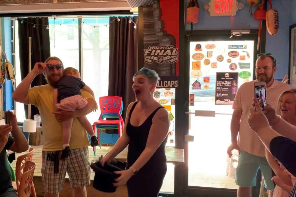 It's a boy! Theresa Coleson discovers the gender of her baby from hair dye.