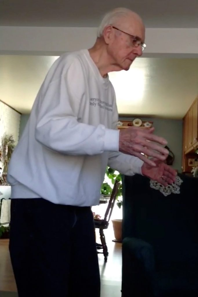 Alzheimers suffer dances to music
