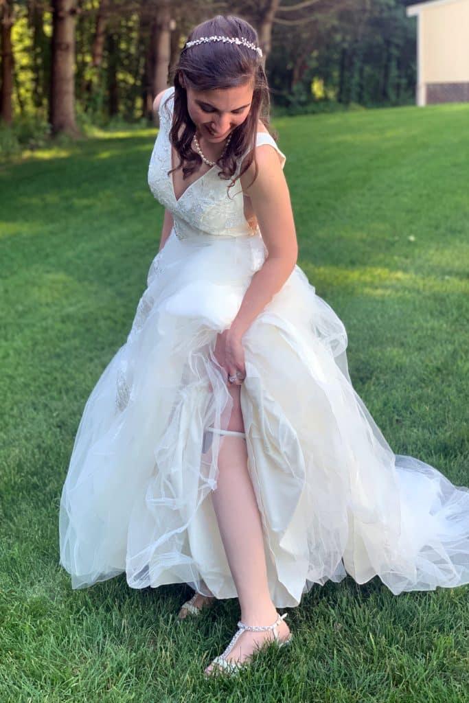 Katarina wears dress first time