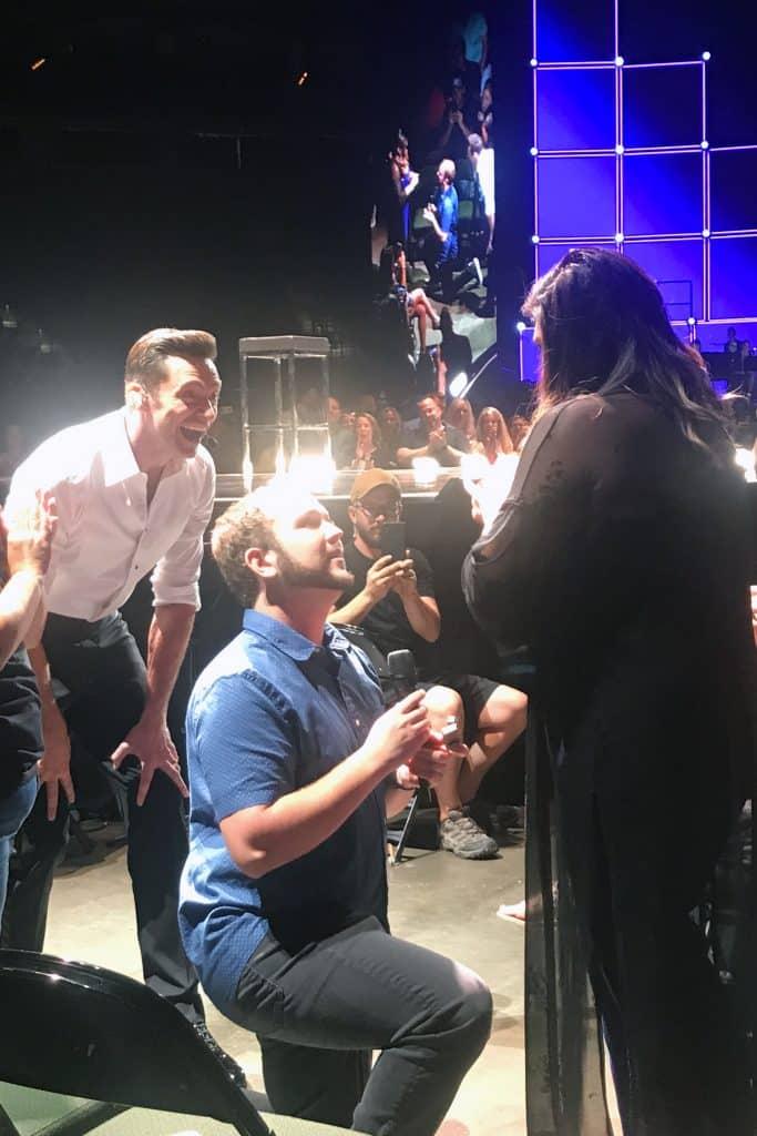 Hugh Jackman helps Joe Kripal propose