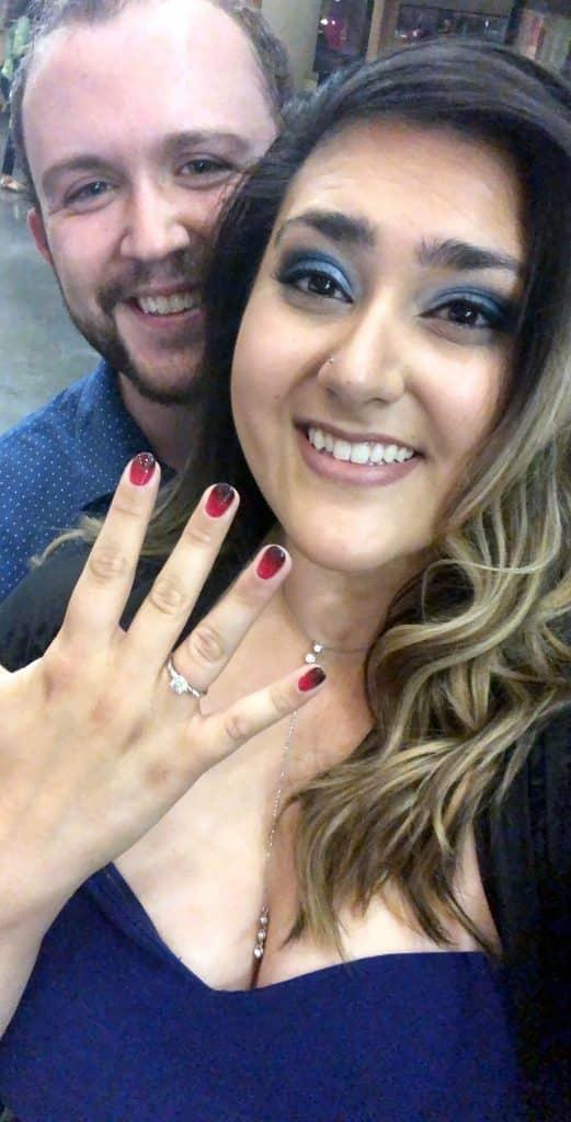 Joe Kripal and new-fiance Sanaa Ahmed