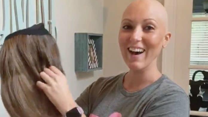 Dana McSwain with her new wig
