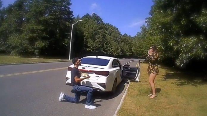 police stop wedding proposal