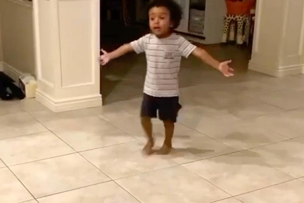 basketball mad toddler disputes traveling call