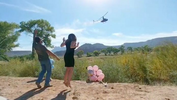 helicopter gender reveal
