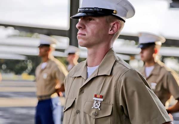 Marine on parade