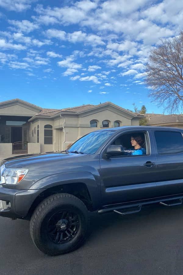 teen drives dream car