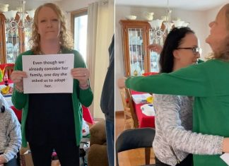 Christmas adoption surprise reveal