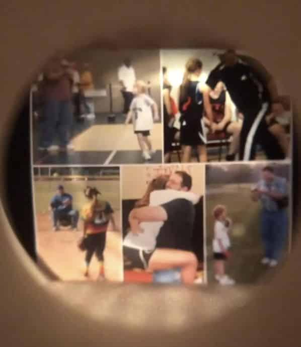 The photos inside the softball