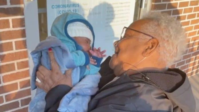 grandmother meets great grandson