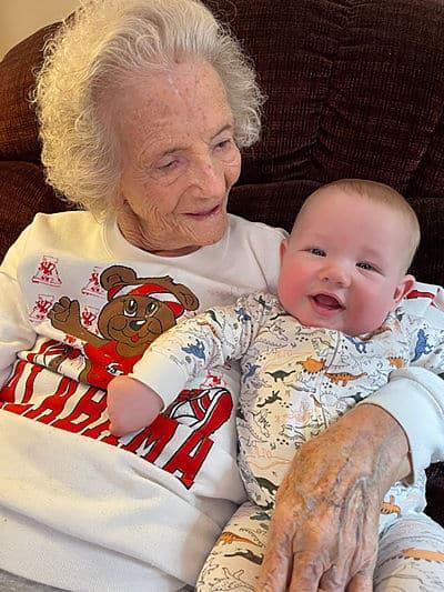great-great-grandson surprise