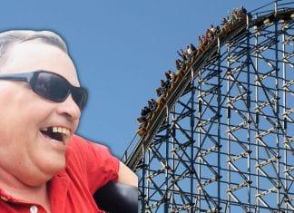 blind veteran rides rollercoaster